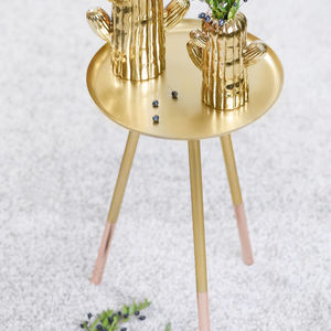 Brass Table With Copper Tips - furniture