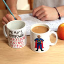 Design Your Own Superman Teacher Personalised Mug