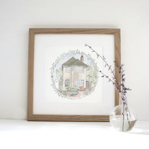 Personalised Home Portrait - family & home