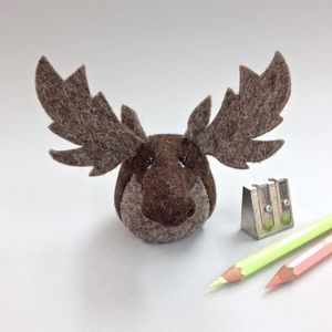Handmade Collectible Mr Moose Paperweight - desk accessories