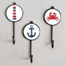 Nautical Sea Boat Themed Bathroom Coat Wall Hooks