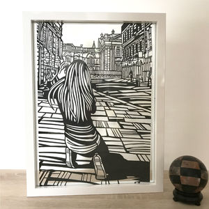 'Cambridge Street Photographer' Handmade Papercut