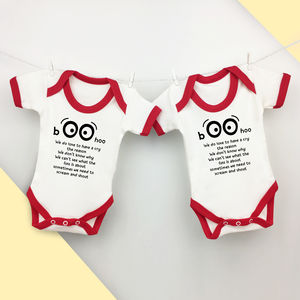 Gift For Twins, Rhyming Babygrow Twin Gift Set