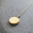 Personalised Large Round Locket Necklace