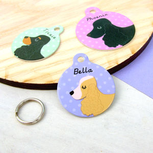 Cocker Spaniel Personalised Dog ID Tag - dogs