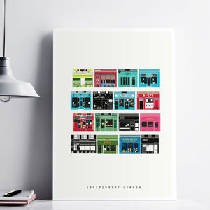 London Art Prints The Shops Of Stoke Newington
