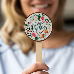 Floral 'Happy Birthday' Chocolate Lolly - best birthday gifts