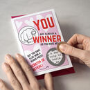 Personalised Scratch Valentine Card