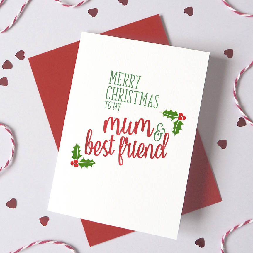 Personalised Best Friend Christmas Card By Ruby Wren Designs