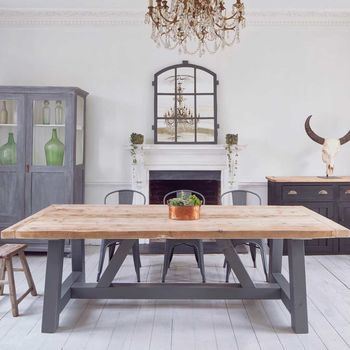 Salvaged Timber Industrial Dining Table