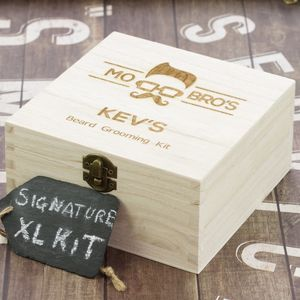 Mo Bro's Signature Xl Wooden Beard Care Gift Box - gifts for him