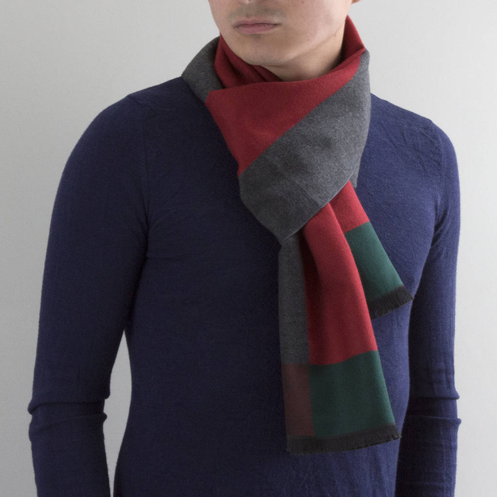 1c106724a personalised men's colourblock cashmere scarf by studio hop ...