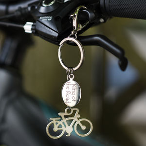 Personalised Cyclist Keyring - keyrings
