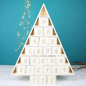 Wooden Christmas Tree Advent Calendar - advent calendars