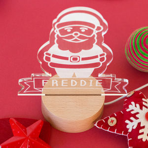 Personalised Santa Christmas Decoration Light