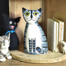 Grey Cat Money Box