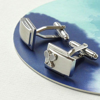 Stainless Steel Tennis Cufflinks