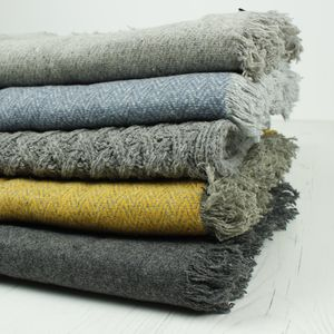 Recycled Wool Throws - throws, blankets & fabric