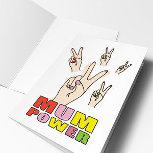 'Mum Power' Mother's Day Card