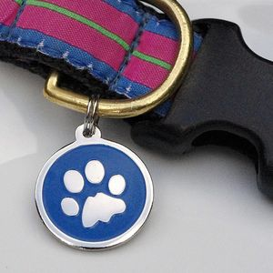 Personalised Dog Id Paw Tag - pet tags & charms