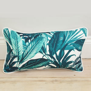 Tropical Palm Print Bolster Cushion - decorative accessories