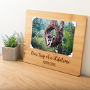 Personalised Trip Of A Lifetime Bamboo Photo Board