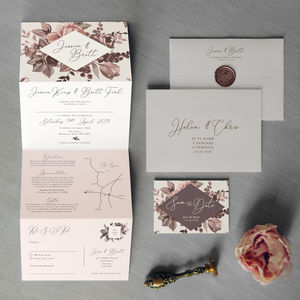 Belle Concertina Wedding Invitation - order of service & programs