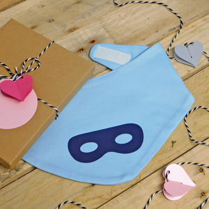 Super Hero Eye Mask Baby Bib