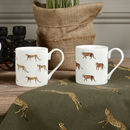 Cheetah And Tiger Mugs Set