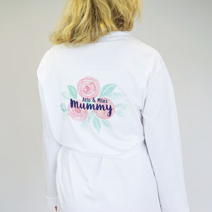 Personalised Our Mummy Rose Dressing Gown - women's fashion