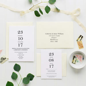 10 My Day Wedding Invitation