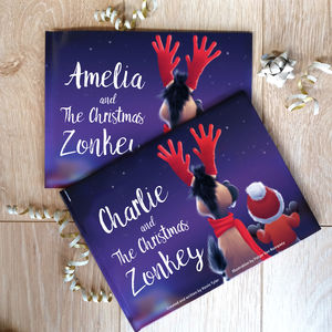 "Personalised ""The Christmas Zonkey"" Story Book"