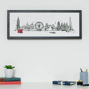 London Skyline Print - drawings & illustrations