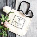 'Maid Of Honour' Wedding Tote Bag