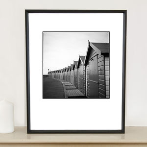 Beach Huts I, Devon Photographic Art Print