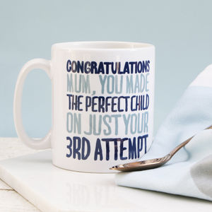Personalised Congratulations Mum Mug - what's new