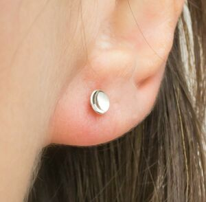 Handmade Sterling Silver Tiny Dome Studs