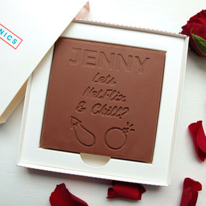 Personalised Netflix Chocolate Card - novelty chocolates