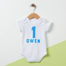 Personalised Birthday Baby Grow