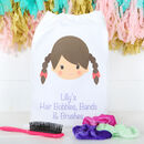 Personalised Girls Hair Bobble And Brush Bag