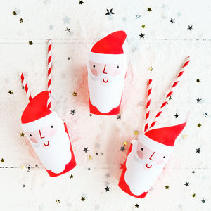 Christmas Santa Party Cups - decoration