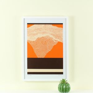 'Next Stage' Screen Print Mid Century Modern Art - posters & prints