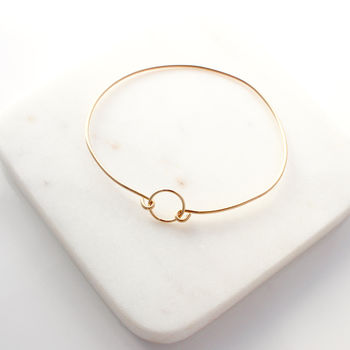 Gold Open Circle Bangle