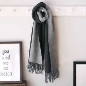 Two Tone Tassel Scarf - hats, scarves & gloves