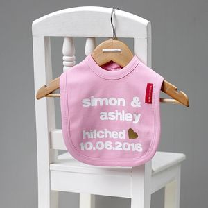 Personalised 'Getting Hitched' Bib - wedding fashion