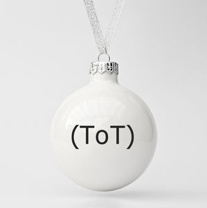 Modern Christmas Bauble With Emoticon