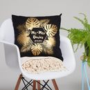 Personalised Tropical Mr And Mrs Cushion