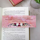 Pride And Prejudice Bookmark First And Last Line