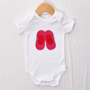 Pink And Red Shoes Babygrow - clothing