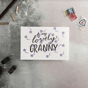 'To My Lovely Granny' Mother's Day Card
